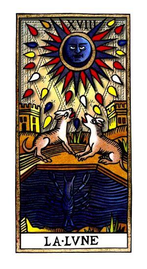 18ème carte de tarot : La lune.