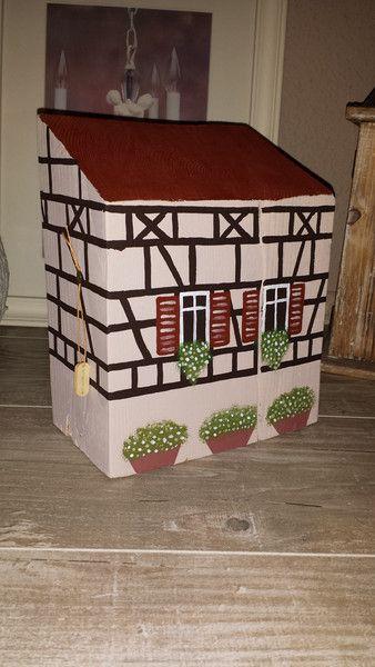 Deko-Objekte – Holzhaus Fachwerkhaus Shabby Chic Deko Vintage  – ein Designerstück von EmmasLaedchen bei DaWanda – Sabine Wollbeck-Lang