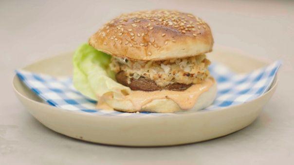 Eén - Dagelijkse kost - Portobelloburgers met paprikamayonaise