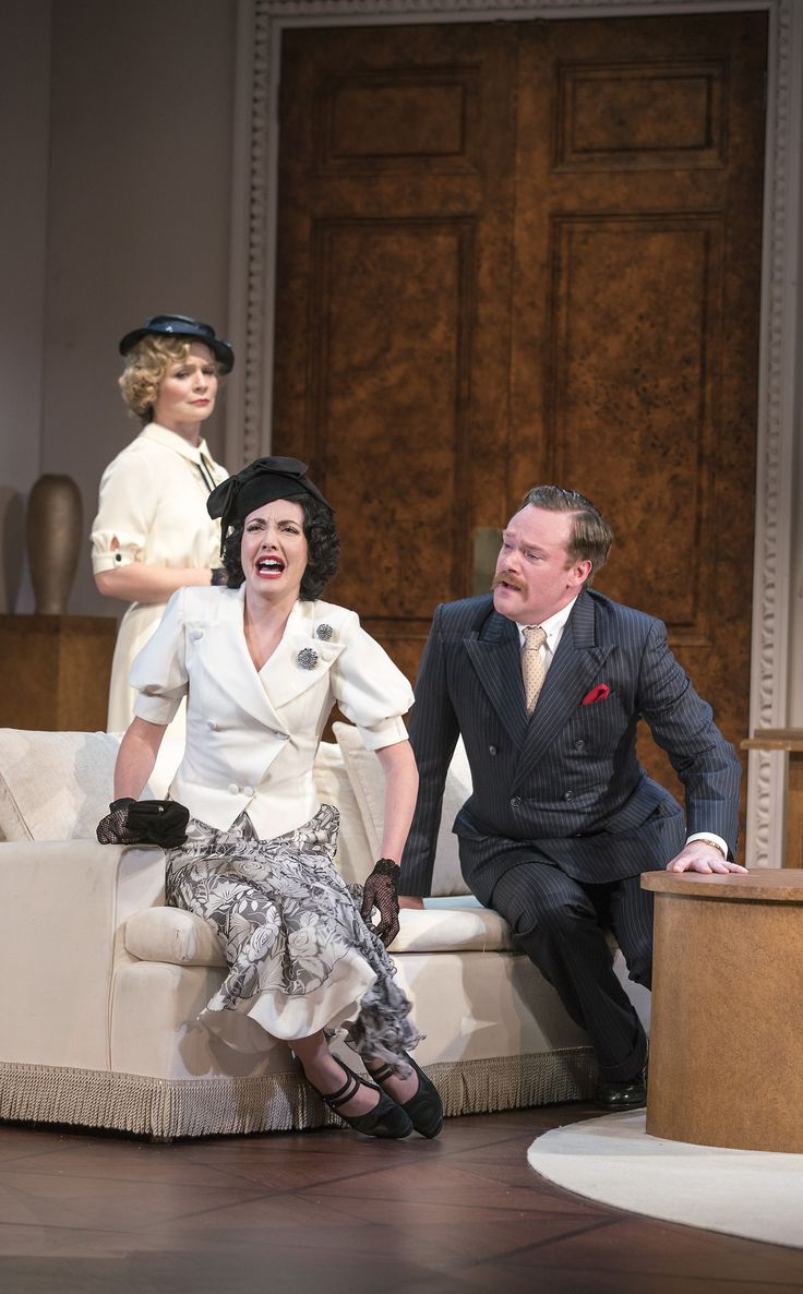Tara Egan Langley, Caoimhe O'Malley and Peter Gaynor in The Constant Wife by W. Somerset Maugham at the Gate Theatre. Photo by Pat Redmond.