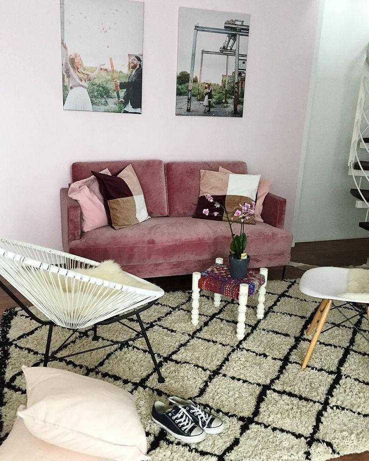 Das Sofa Mit Sofort Glam Effekt! Mit Dem Angesagten Samt Sofa Fluente