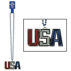 Give out patriotic necklaces at your 4th of July party!  #4thofjuly #partycheap