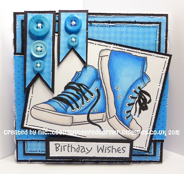 coops cluttered corner: Blue Birthday Wishes.
