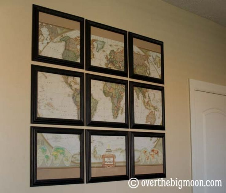 Great Big Wall Decorations Worthy Over The Big Moon Map Wall Art Best Collection