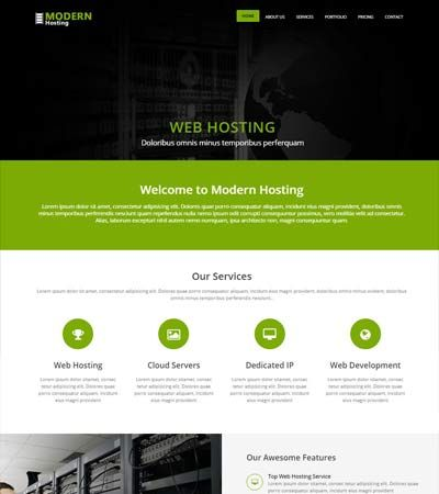 Hosting-services-Free-HTML5-Template