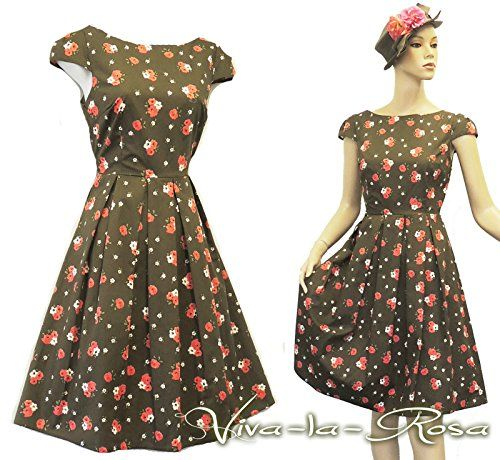 "New Rosa Rosa ""Green Pink Ditsy Floral WWII 1930's/40's Vtg Land Girl Tea Dress Viva-la-Rosa http://www.amazon.co.uk/dp/B00NQ9K4RG/ref=cm_sw_r_pi_dp_xcXjub062DHX0"