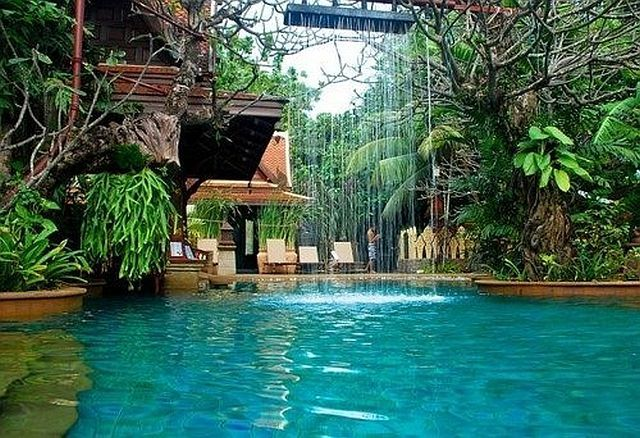 Take me away: Sawasd Village, Swim Pools, Water Features, Outdoor Shower, Phuket Thailand, Backyard Oasis, Dreams Pools, Village Resorts, Back Yard