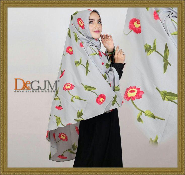 Jilbab Khimar Simple Motif Terbaru Matahari by deGJM