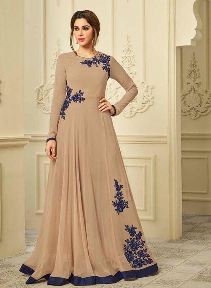 b49df0dfc4d anarkali salwar kameez indian pakistani georgette cream suit dress eid  special 1  Unbranded  Anarkali