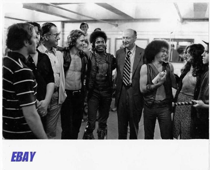 The Warriors. My favorite picture of them all! That's the Mayor of New York City with them!