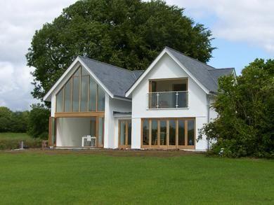 Bespoke housing design for a £1m house. (Glass, gable, grand, design, house)