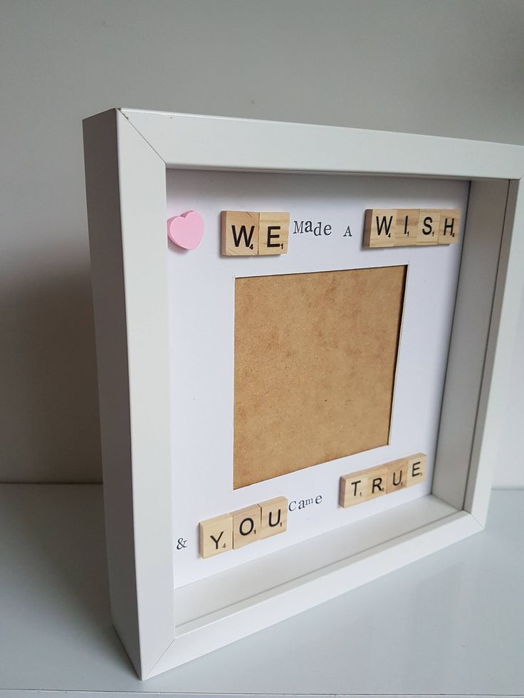 Baby scrabble frame, keepsake frame, new baby frame, baby gift, new baby gift, we made a wish, baby shower gift, new mom gift, box frame by FrameitUnitedKingdom on Etsy