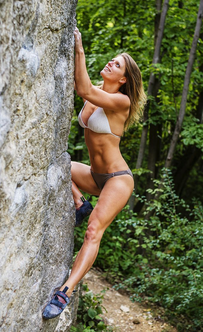 climbing girls Rock