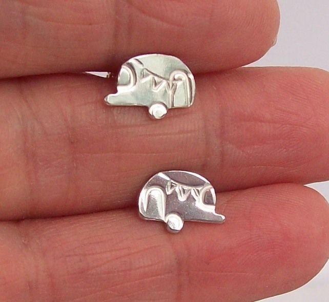 Touring Caravan Earrings Sterling Silver  £30.00