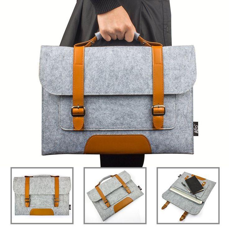 etpower 17 pouces housse en feutre de laine felt sleeve case sac pour ordinateur portable