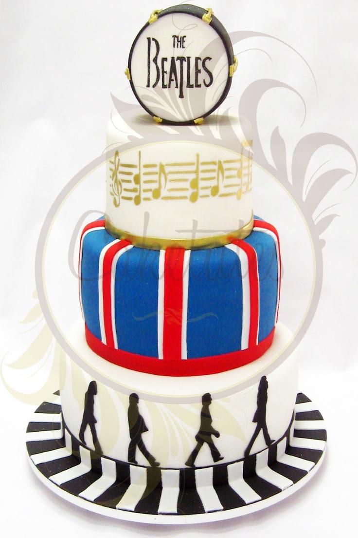 Cake The Beatles - Caketutes Cake Designer - Bolo The Beatles