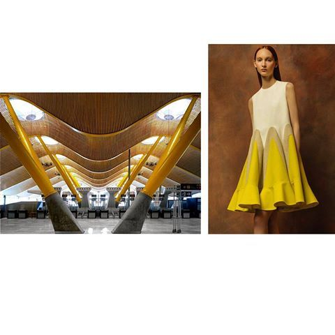 🏣 Madrid-Barajas airport Terminal 4, Spain by Rogers Stirk Harbour +Partners with Estudio Lamela, 2006 | 👗 Delpozo Resort 2017 collection // ig: @alici.nnamon