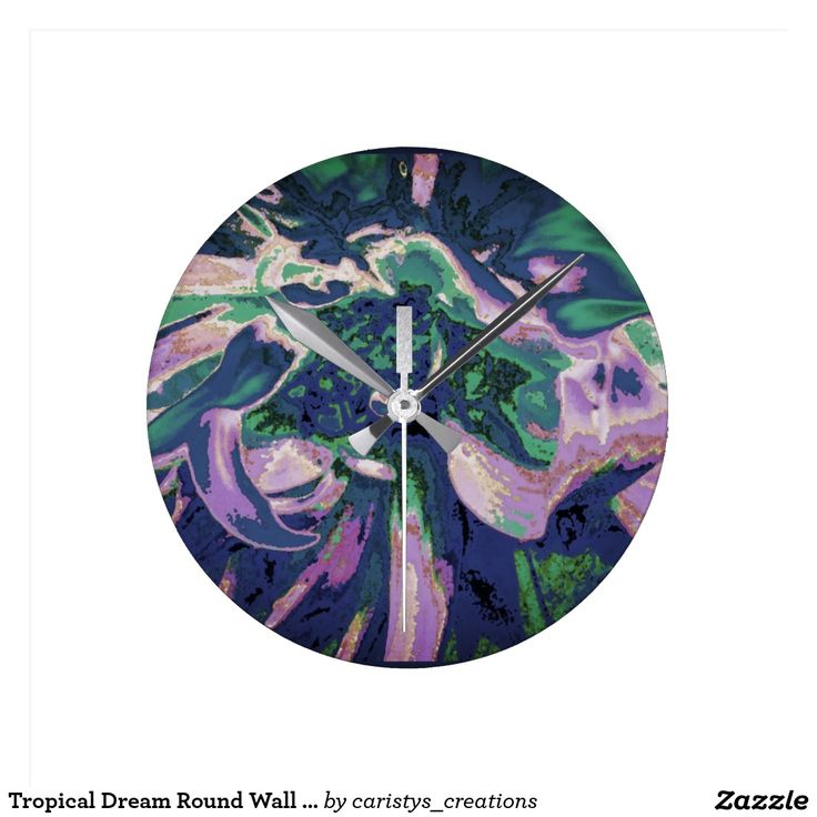 Tropical Dream Round Wall Clock