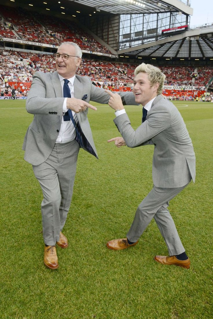 Niall Horan and Claudio Ranieri,  they are so funny and cute! :D