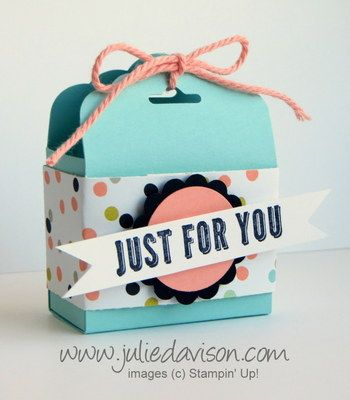 Julie's Stamping Spot -- Stampin' Up! Project Ideas Posted Daily: Sweet Sorbet Tag Topper Punch Treat Box