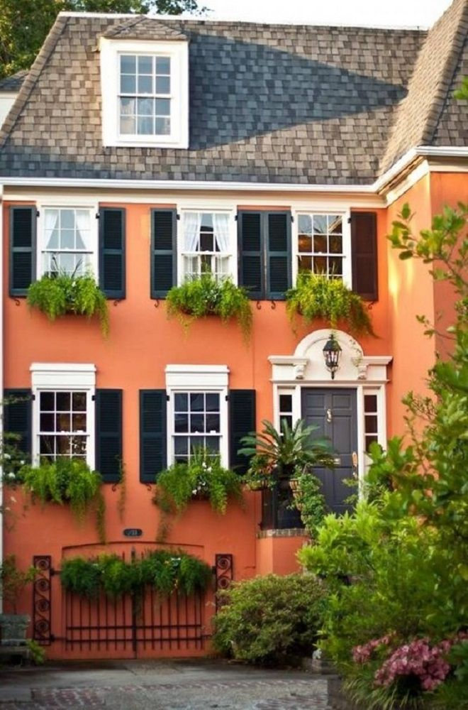 118 best exterior color schemes images on pinterest on exterior house paint colors schemes id=29684