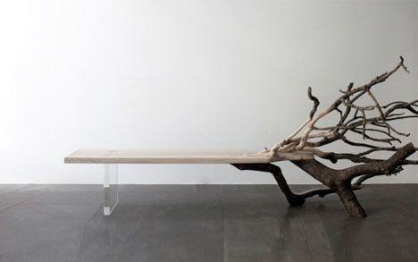 fallen wood seat design