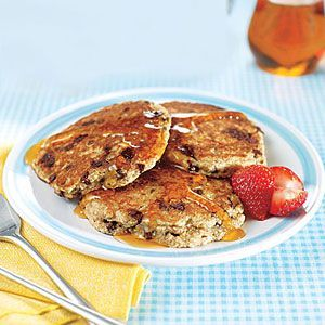 Multigrain Chocolate Chip Pancakes | MyRecipes.com