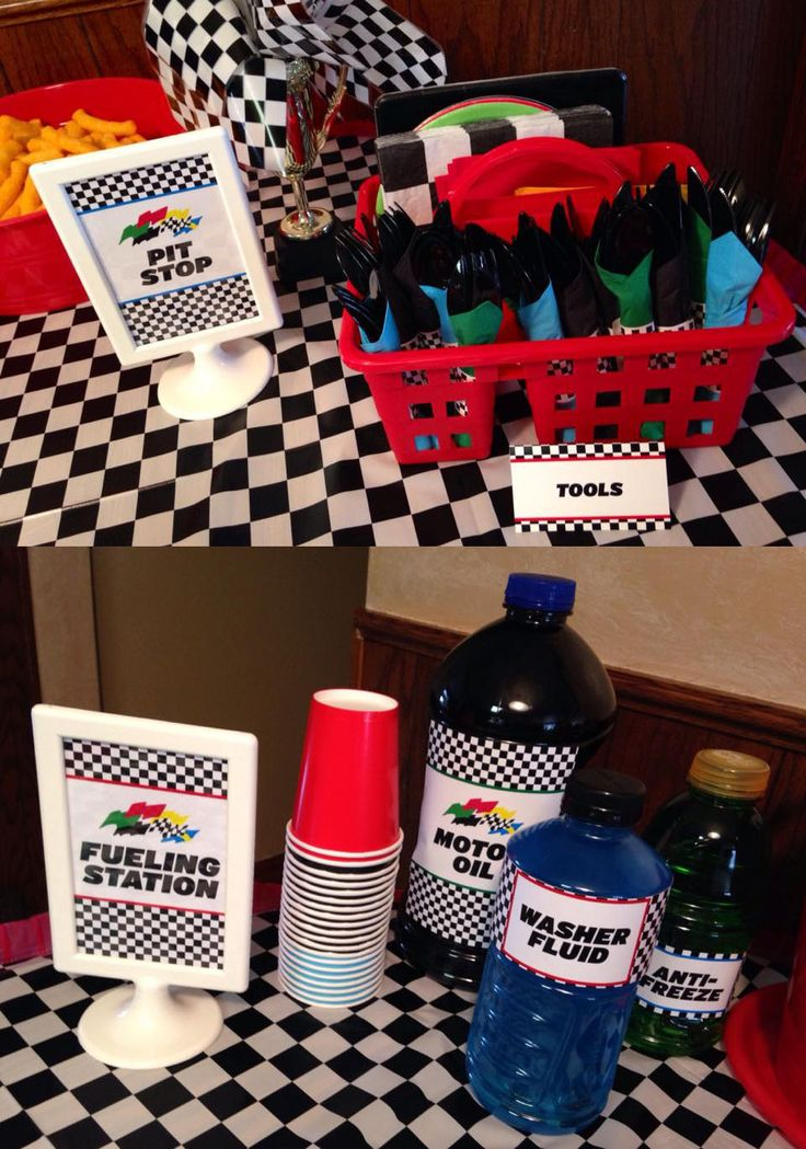 "Daytona 500 themed party printables - lydiaurban.etsy.com. Like the ""tool caddy"""