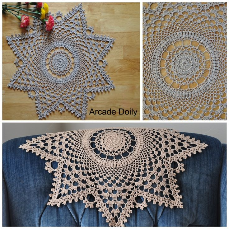 A challenge for even advanced crocheters, this classic doily incorporates bullion stitches and lots of detailed picots, in the Arcade Doily by Kathryn White. #crochet #thread #doily #lace