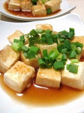 Fried Tofu with Starchy sauce 簡単すぎ?フライパン一つの揚げ出し豆腐