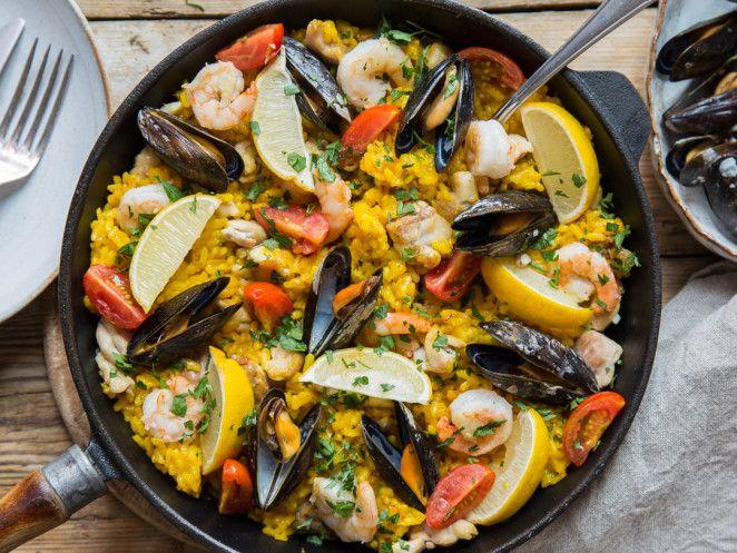 die besten 25 spanische paella ideen auf pinterest paella rezept spanische lebensmittel und. Black Bedroom Furniture Sets. Home Design Ideas
