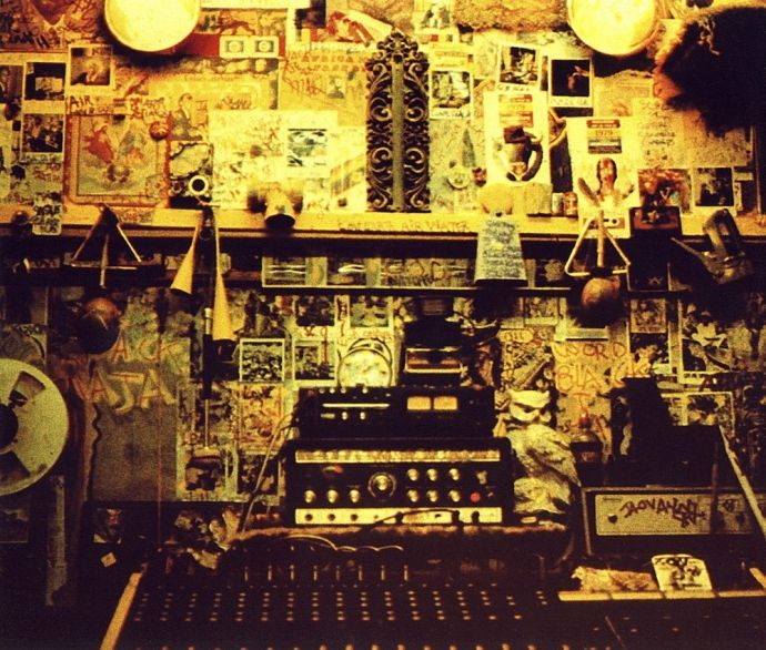 "Black Ark, 1979 - The interior of Lee ""Scratch"" Perry's famed Kingston, Jamaica studio. Photo by Dave Hendley"