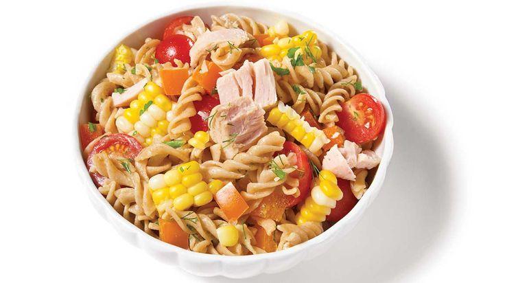 Salade de pâtes, de maïs et de thon