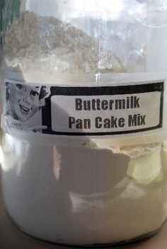 "Homemade Buttermilk Pancake and Waffle Mix.....This mix was quick to make...quick to mix up...& my husband said ""They were the BEST pancakes ever!!"""
