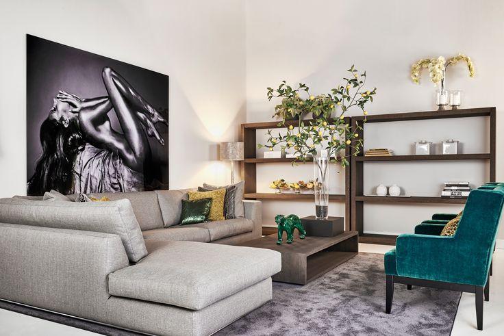 Keijser&Co - Modulebank Mavida - Fauteuils Beaufort - Roomdivider Flex - Salontafel Kubus langwerpig - Foto @Cobra Art