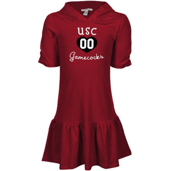 South Carolina Gamecocks Girls Youth Dropwaist Dress – Garnet - $17.99