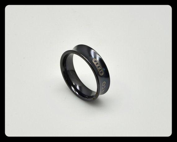 Tiffany Co 1837 Black Titanium Mens Band Ring Comfort Fit Size 11 Mens Band Rings Rings For Men Black Rings