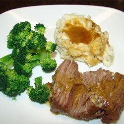 VERY tender and delicious. Using the pressure cooker saves SO much time that this recipe can be used on a weekday and still you can manage to eat dinner at a decent hour.