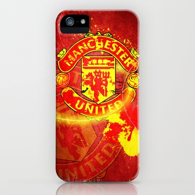 Manchester United Logo iPhone Case by Shyam13 - $35.00