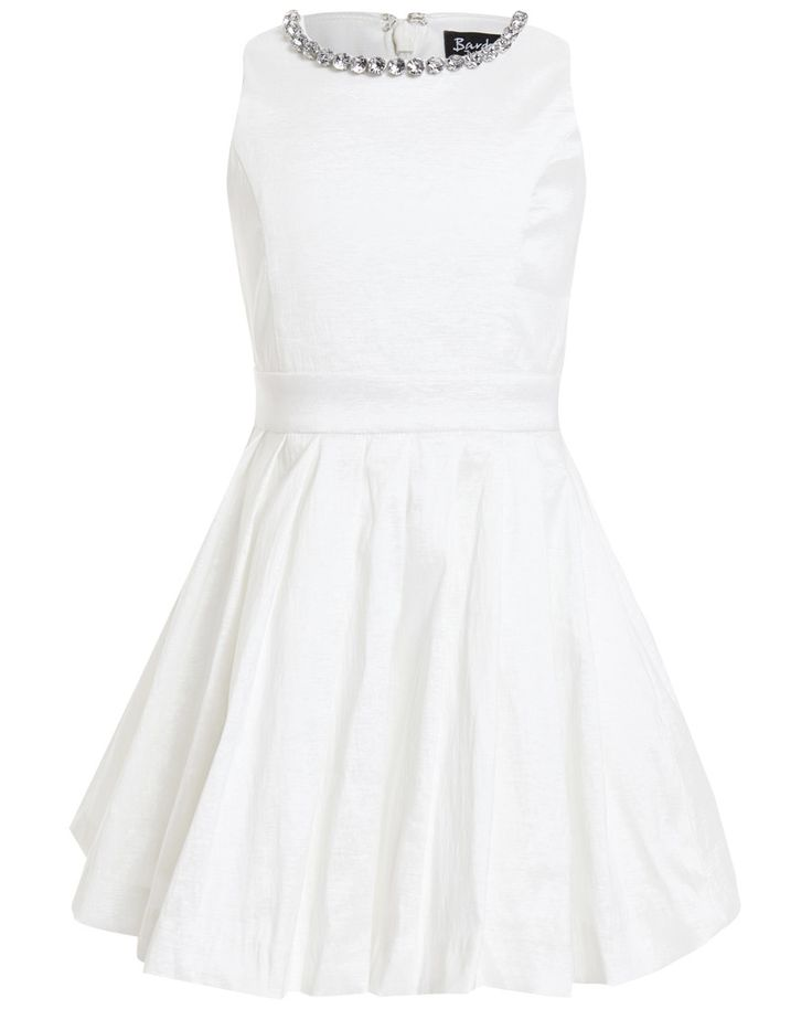 Girls Jewel Pleat Dress - Bardot Junior