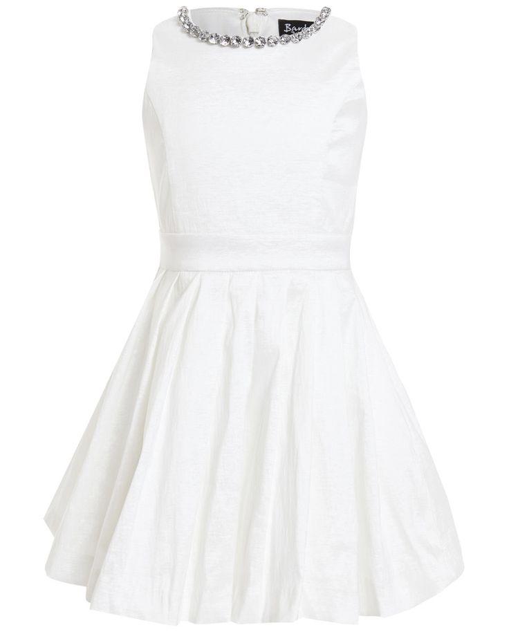 Girls Jewel Pleat Dress - Bardot Junior