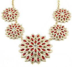 Crystal Rhinestone Flower Choker Necklace
