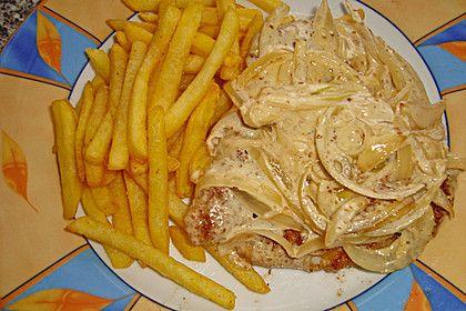 Zwiebel - Sahne - Schnitzel (Rezept mit Bild) von Nitseltrik | Chefkoch.de