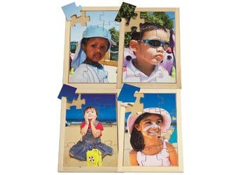 Sun Safety Puzzles Set of 4. Highlight important sun-safety messages with these Australian photographic wooden puzzles.