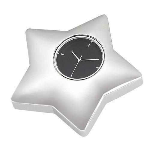 Personalized Free Engraving Silver Desk Star Clock Wedding