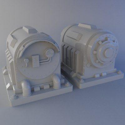 3Ds Max Sci Fi Generator - 3D Model