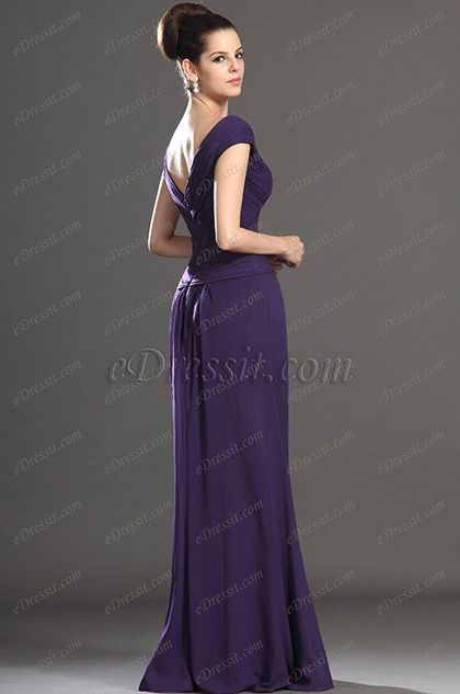 eDressit новое сексуальное фиолетовое платье матери невесты v-образный вырез (26132706)