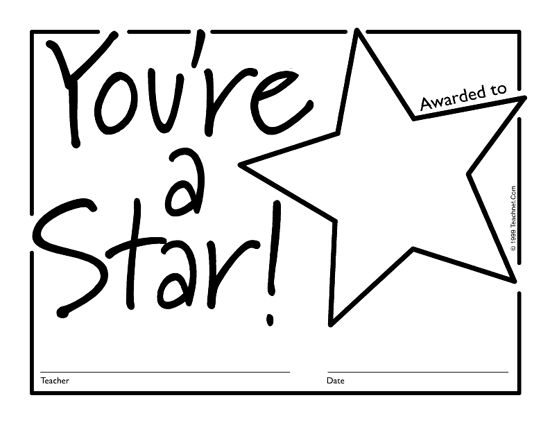 Star Templates Printable Free | Free Downloadable PDF Certificates & Awards