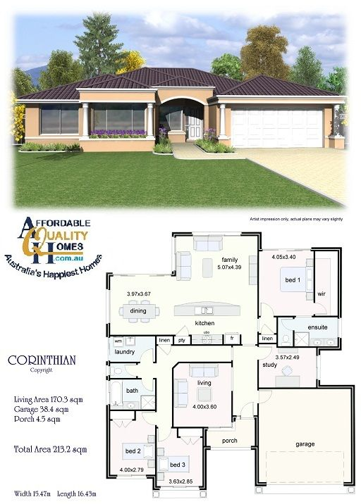 House Plan - Affordable Quality Homes Corinthian 213sqm