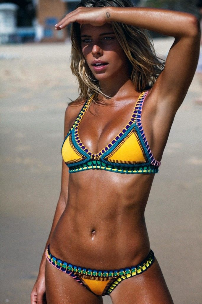 Natasha oakley in kiini swim for itsnowcool / CLEO AUSTRALIA